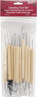 Darice 11-Piece Set – Metal Tipped Sculpting Tools with Wood Handles, Ideal for Cleaning and Creating Decorative Effects on Clay Surfaces, Gray