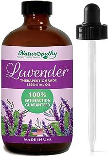 Naturopathy Lavender Essential Oil, 100% Natural Therapeutic Grade, Premium Quality Lavender Oil, 4 fl. Oz - Perfect for A...