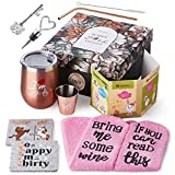 30th Birthday Gifts For Women | 30th Birthday Decorations Present for Women | Funny Present Ideas Her Wife Mom | Unique Funny 30th Birthday gifts | Stainless Steel Wine Tumbler Shot Glass Set