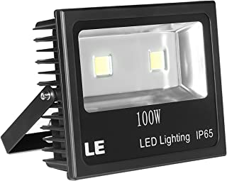 LE Outdoor LED Flood Light, 100W 10150LM, IP65 Waterproof, 250W HPS Bulb Equivalent, Daylight White 6000K, 120° Beam Angle, Security Light for Home, Backyard, Patio, Garden and More