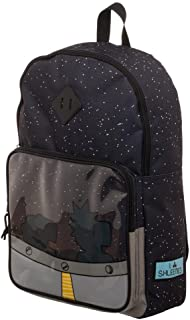 rick and morty spaceship backpack