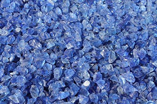 Doubleyou Geovlies & Baustoffe 5kg Glas Splitt 5-10mm blau