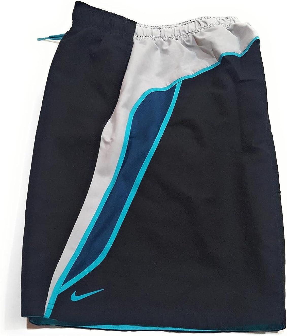 Nike Swim Swimsuit Volley Trunks Black Polyester Shorts Men 9
