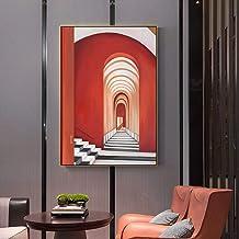 Endless Road Canvas Malerei Wandkunst Bild Poster und Druck für Wohnzimmer Studio Gang Home Decor Abstract 60x90cm