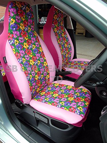 RM r - SUITABLE FOR HYUNDAI AMICA CAR, SEAT COVERS, PRIMROSE COVERS/PINK...