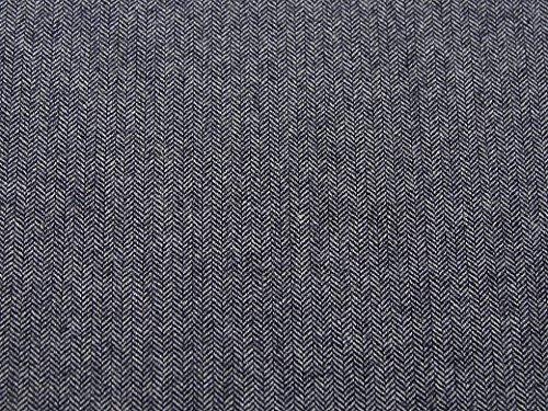Polyester & Wolle Herringbone Tweed Beschichtung Kleid Stoff, Marineblau, Meterware
