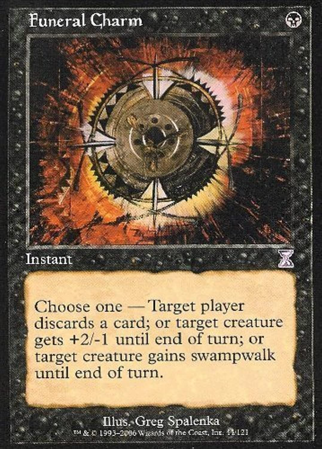 Magic  the Gathering  Funeral Charm  Timeshifted  Foil