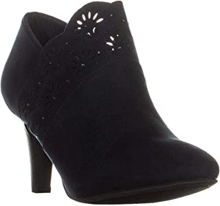 KS35 Marana Front Perforated Ankle Boots, Navy, 7 W US