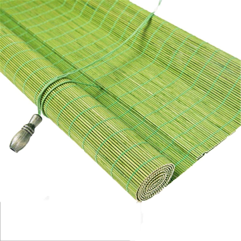 Oriental Bamboo - Rollo mit grünen Fenstern, Vorhang mit Schattenwurf, geeignet für Wohn- und Schlafzimmer im Innen- und Auenbereich - 70 90 110   130cm Breite (Größe   70x170cm)