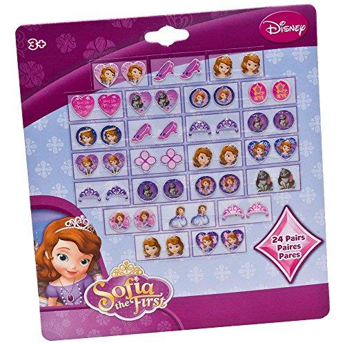 Joy Toy 'Sofia' - Set di orecchini adesivi (24 pezzi, multicolore