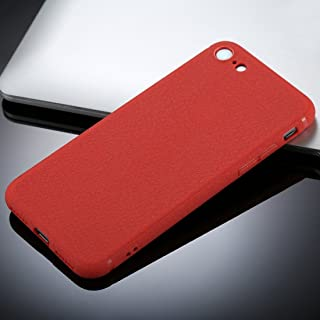 for iPhone 8 &7 Litchi Texture TPU Protective Soft Back Case (Color : Red)