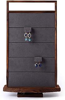 Jewellery Boxes Stud Rack Jewelry Display Stand 60 Earrings Jewelry Storage Rack Jewelry Shop Window Display Props Jewellery Boxes & Organisers (Color : Brown, Size : 28 * 47cm)
