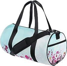 FANTAZIO Gym Duffel Bag Romantische Vlinders Stad Landschap Mens Gym Duffel Bag