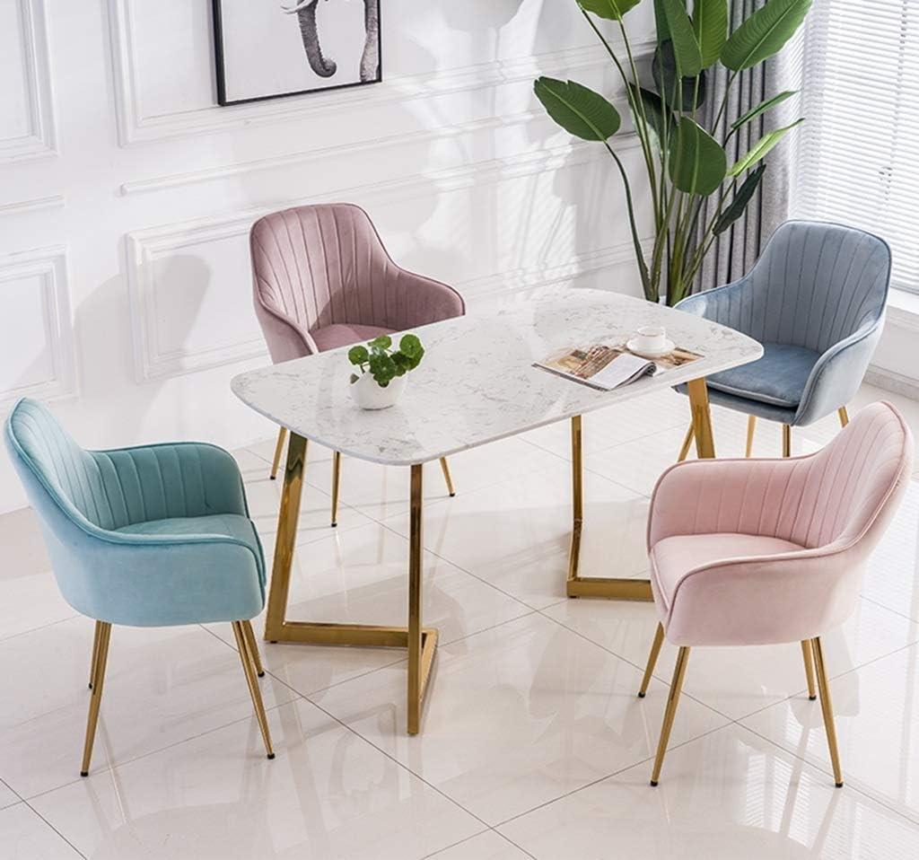LIU Chaise de Salle à Manger Chaise de Cuisine rétro, Style Bois avec Dossier Doux (Couleur : Bleu) Bleu