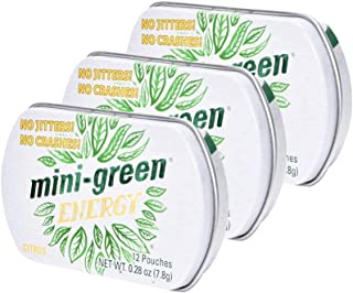 Mini-Green Energy Natural, Organic Energy Boost Pouches, Citrus Flavor, 3-Pack