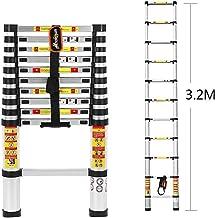 DHOUTDOORS 3.6M /Échelle Pliante Multifonction Extensible et Polyvalent avec Barre stabilisatrice et 2 Panneaux 150 kg Escabeau /Échafaudage T/élescopique /à Haute R/ésistance Charge maximale