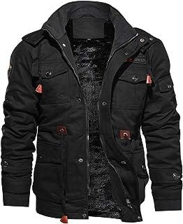 لباس TACVASEN مردان گاه به گاه زمستانه پنبه جنگی کت گاو پوشش داده شده
