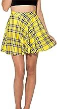Women's Summer Simple Stretchy Pleated Plaid Mini Skater Skirt