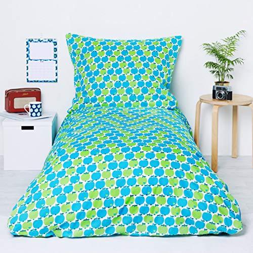 Bettwäsche Apfel/Blau Größe Standardgröße