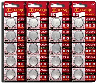 CR2016 5000LC LM2016 ECR2016 LS2016 BR2016 Button Cell Batteries [20-Pack] by Focuseparts