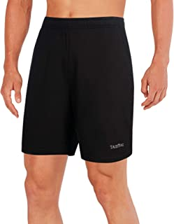TAILONG Quick Dry Running Shorts Workout Exercise Clothes with Pockets Fitness Men Short for Yoga, Jogging, Basketball