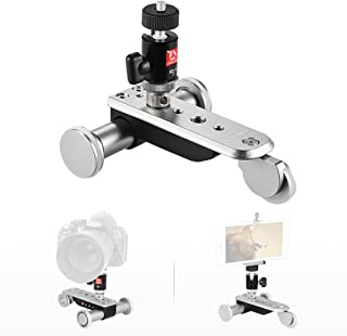 Andoer Kingjoy PPL-06S 3-Wheel Auto Dolly 5 Speeds Motorized Video Car Slider Skater for iPhone 7/7plus/6/6s Smartphone for GoPro Hero 5/4/3+/3 Action Camera for Canon Nikon Sony A7 Camera Camcorder