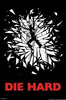 Die Hard Broken Glass Action Movie Christmas John McClane Nakatomi Plaza Minimalist Cool Wall Decor Art Print Poster 12x18