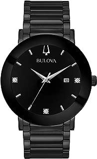 Bulova Men's Modern Quartz Watch with Stainless-Steel Strap, Black, 22 (Model: 98D144)