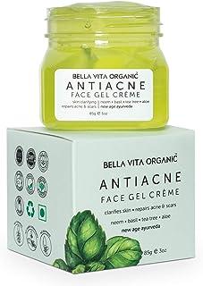 Bella Vita Organic Anti Acne Cream Gel & Pimple Face Gel with Neem, Tulsi & Aloe Vera, 85g
