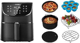 COSORI Air Fryer,Max XL 5.8 Quart,1700-Watt Electric Hot Air Fryers Oven & Oilless Cooker for Roasting,LED Digital Touchscreen & Air Fryer Accessories XL, Set of 6 Fit all 5.8Qt, 6Qt Air Fryer