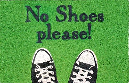 SHOE-MAX YH 101769 No Shoes voetmat, 44 x 74 cm, 2,1 kg