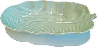 タイ 土産 セラドン焼き バナナリーフ皿 (ライトグリーン, M)