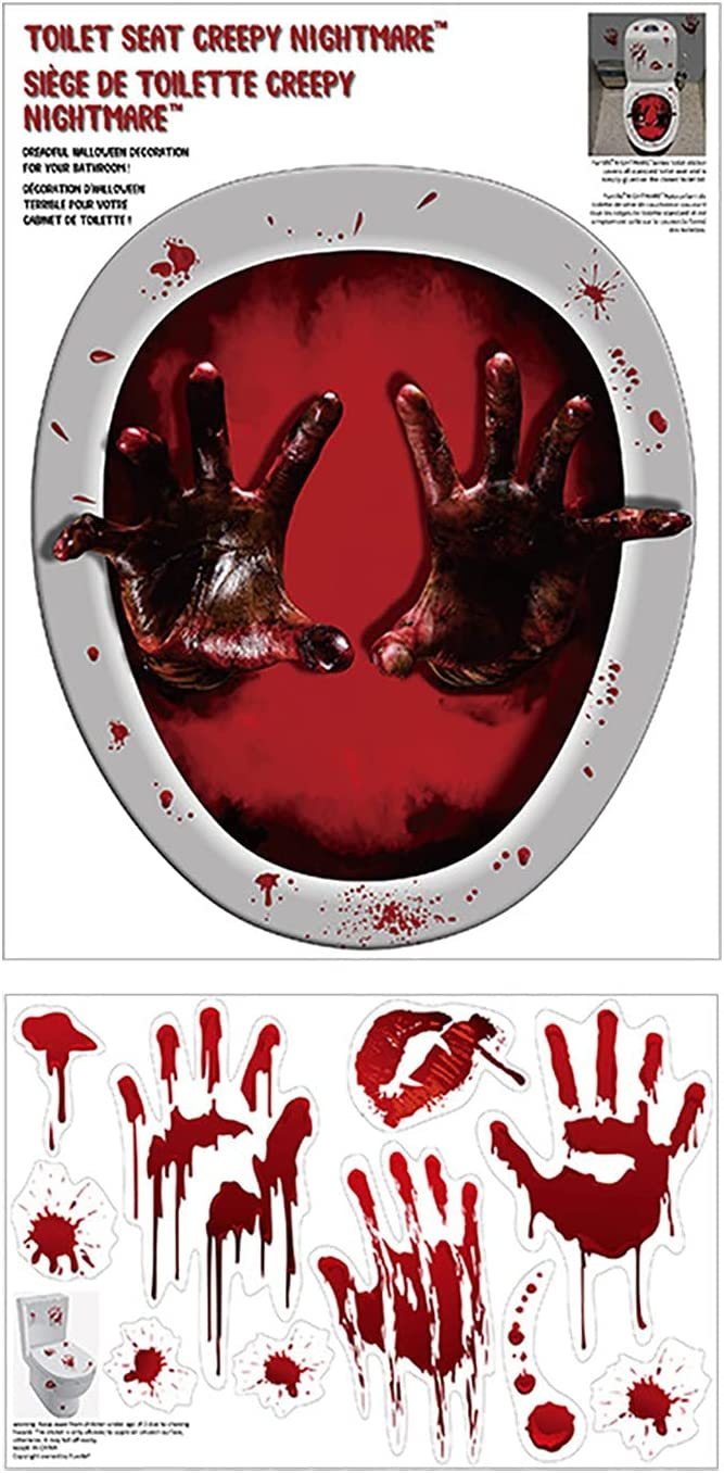 Max 50% OFF Mul-king Horror Halloween Blood Stickers Scarry Toilet 3D It is very popular for E
