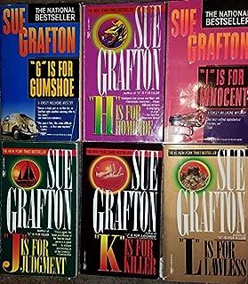 Sue Grafton 6 Book Set (Kinsey Millhone's Alphabet Series - G,H,I,J,K,L)