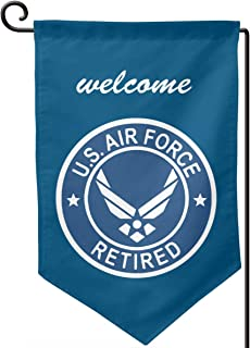 Garden Flag 12.5-18in Size Banner for House Decoration- US Air Force Retired USAF