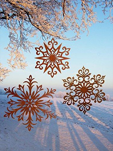 Antikas - Dekoration Weihnachten Advent, Hänger Edelrost, Metall Sterne, Fensterschmuck