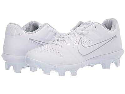 Nike Alpha Huarache Varsity Low MCS (White/White/Pure Platinum) Men