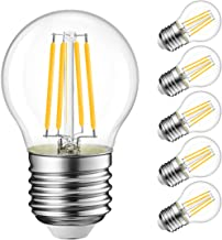 Best G14 LED Filament Globe Bulb 5.5W(60W Equivalent), LVWIT Dimmable 2700K Warm White E26 Screw Base, Decorative Edison Light Bulb, UL-Listed(6-Pack) Review
