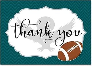 Set of 12 Thank You Notes and Envelopes with Philadelphia Pennsylvania Eagles Football TYTS8007