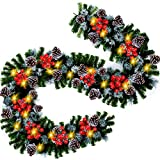 Top 10 Christmas Garland for Staircase with Lights