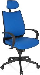 HJH Office 700310 - Silla de Escritorio de Oficina, de poliéster, Color Gris