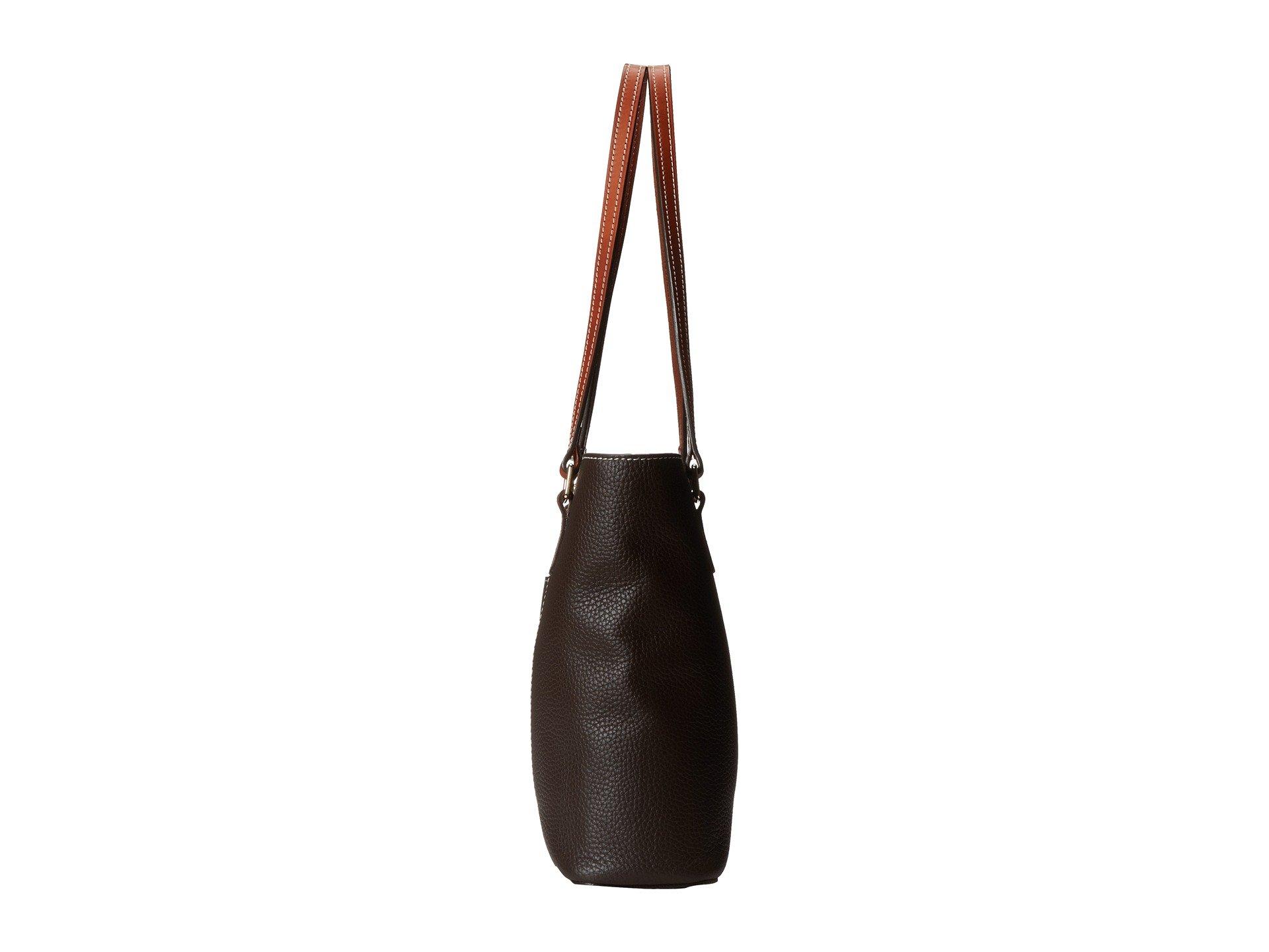 Bourke Tan Small Lexington amp; Dooney Shopper W Chocolate Pebble Trim 8t544xq