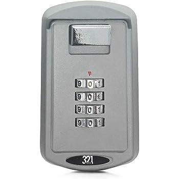 Caja de almacenamiento para llaves instalada en la pared LB-10 - Combinación con clave de 4 dígitos - Para el hogar, trabajo, oficina, obras de construcción, escuelas: Amazon.es: Oficina y papelería