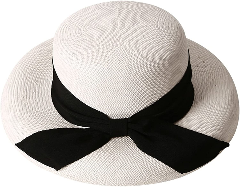 Chunlan Sun Hat Hat Lady Elegant Big Hat Fashion Travel Black Ribbon Sunhat