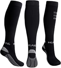 MGANG Compression Socks, Open Toe 20-30 mmHg Graduated Compression Stockings for Men Women, Knee High Compression Sleeves for DVT, Maternity, Pregnancy, Varicose Veins, Relief Shin Splints, Edema
