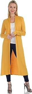 Simply Ravishing Women's Long Sleeve Floor Length Long Open Cardigan (Size: S- 5X)