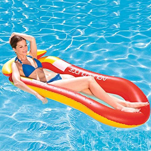 Wasser Hängematte Stuhl Luftmatratze Schwimmende Wasser Bett Matte Swim Aufblasbare Schwimmer Pool Wasserhängematte Bed Schwimmbecken Schwimmbad Wasserspielzeug Superleicht für Erwachsene und Kinder