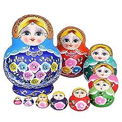 YAKELUS専業マトリョーシカ人形 ブランド10層手作り プレゼント おもちゃ1084