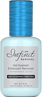 FAST ACTING Eyelash Extension Glue Remover - Infinit Removal Powerful Gel Formula (15 ML) | Dissolves Eyelash Adhesive in 60 Seconds | Easy to Control & Won't Run | Cool Blue Color & Pleasant Smell