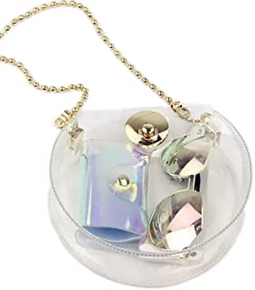 Women's Hologram Transparent Purse Clear Shoulder Bag Cross Body Bag